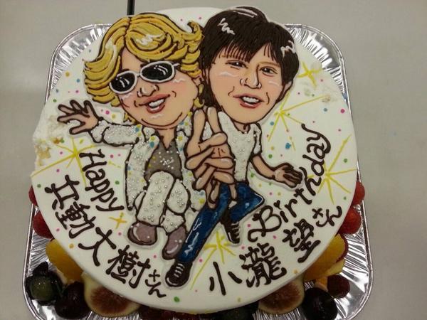 ピーチケパーチケの収録で兵動さんとジャニーズWESTののんちゃんのお誕生日をケーキでお祝いしました〜! 44歳と18歳! おめでとうございます〜! http://t.co/f13YgSWD9N
