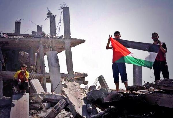 #Israel can never bring them down... Long live #Palestine! ❤️  #GazaUnderAttack #FreePalestine #ICC4Israel #Gaza #غزة http://t.co/KQhzf8G7El