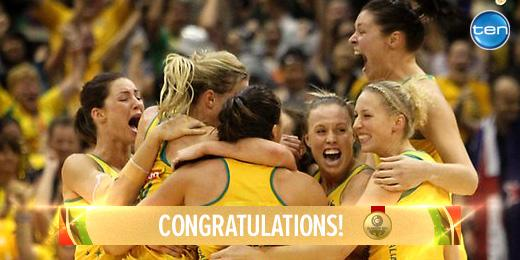 THEY HAVE DONE IT!! OUR AUSSIE LADIES HAVE DONE IT! Congrats @AussieDiamonds beating NZL! What a well deserved WIN!! http://t.co/R05lk5iBOY