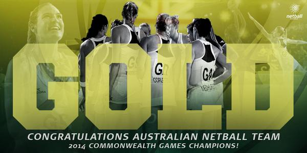And we have done it!! GOLD!! We defeat New Zealand by 18 goals, 58-40! #GoAussies #GoDiamonds http://t.co/bu9sDy4Ojk