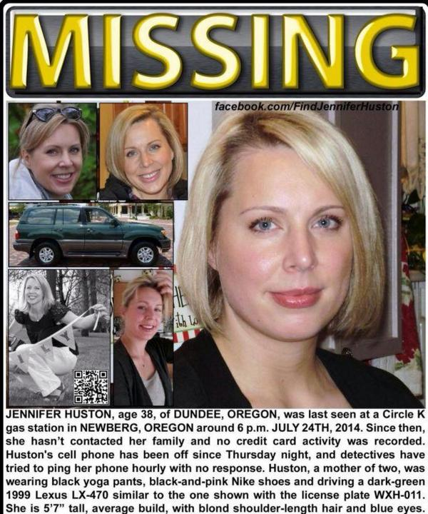 OREGON: please look for a green 99 Lexus SUV, license plate WXH 011. #findjenniferHuston http://t.co/xgG7oUwAkO