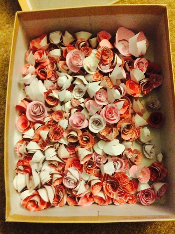 Can anyone put these handmade paper flowers to use? Free to a good home. http://t.co/42wbGHHyfH