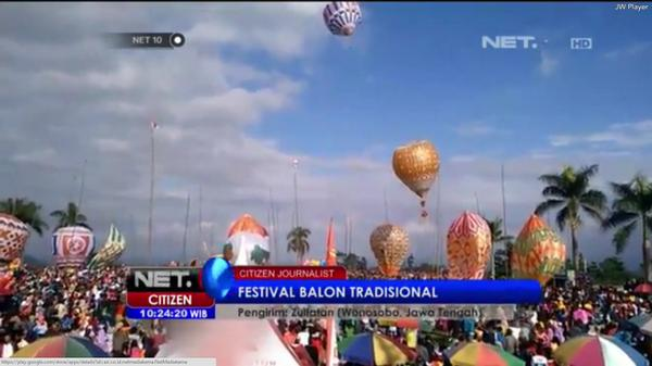 """@NET_CJ: Festival balon tradisional. Video netizen Zulfatan di Wonosobo, Jateng. #NET10 http://t.co/mbfRbqlsZs"""