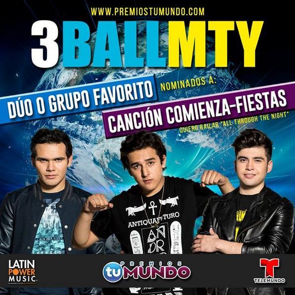 @3BallMTY Por la cancion comienza fiestas! Vota por ellos @PremiosTuMundo @iambeckyg http://t.co/fYZ7hsaF4N http://t.co/tKumAFQ93a