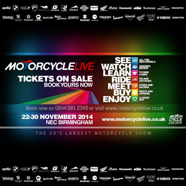 Competition time! Re-tweet this for the chance to win 1 of 5 pairs of #motorcyclelive tickets http://t.co/vVP5efSwK5 http://t.co/UKCIUA4JQC