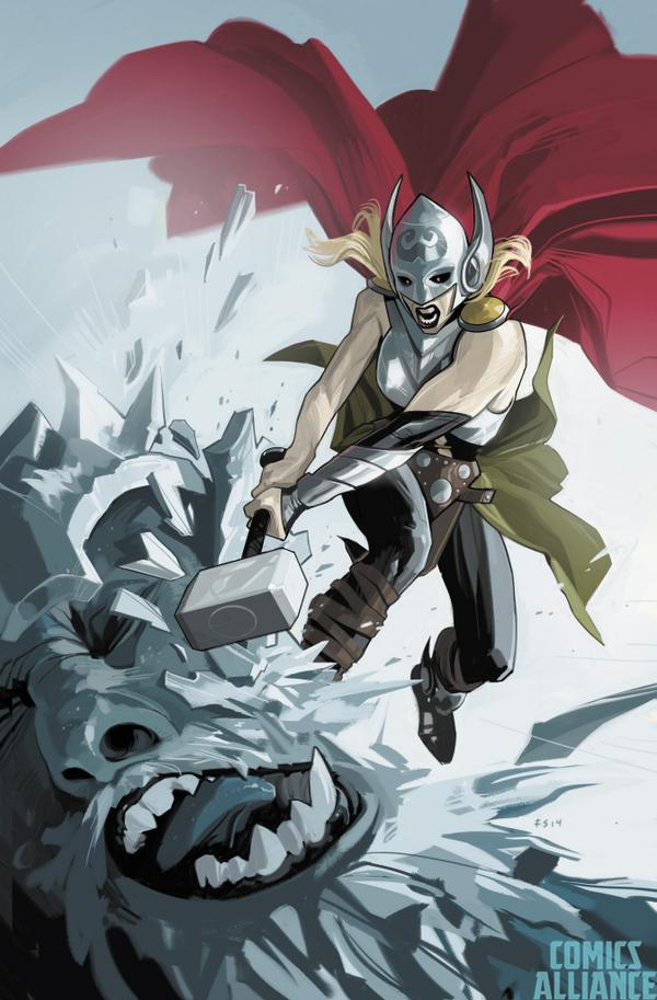Everybody see the awesome @fionastaples variant cover for THOR #1? http://t.co/0OcY6QHO0h http://t.co/Ry0x3MgSN5