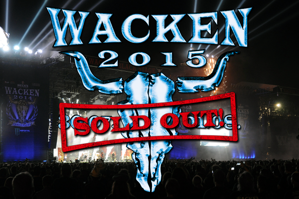 #Wacken 2015 is SOLD OUT! THANX FOR YOUR SUPPORT, METALHEADS! YOU ARE AMAZING!!! http://t.co/K0VrVOI1VC