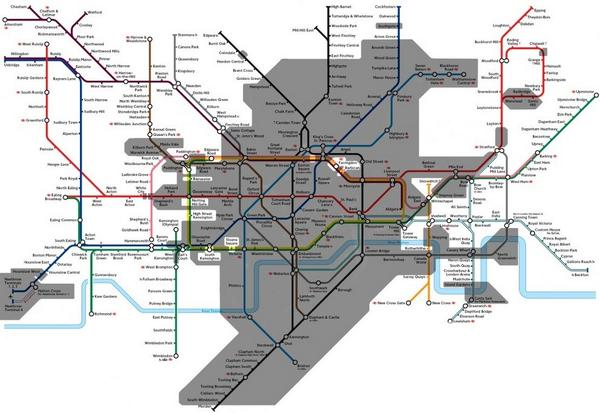 The London Underground... isn't entirely underground! (the shaded bit is) http://t.co/xwVMidsIzP