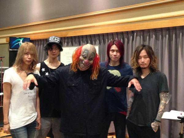 Clown (@slipknot) who is in visiting Japan came by to our rehearsal studio yesterday! -Manager http://t.co/LtGrgK6fqa http://t.co/WNEaNCwa5V