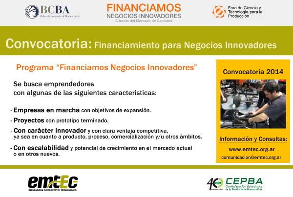 Convocatoria: Financiamiento de Negocios Innovadores http://t.co/47SA9Oipog  #Laplata #emprendedores http://t.co/nvVgkfMY7i