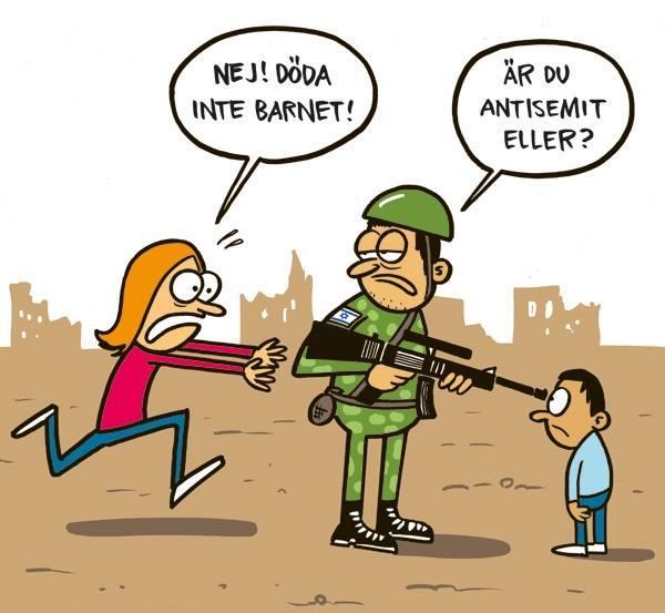 """Israels talsm og dets apologeter drar """"antisemittstemplet"""" langt for tiden. Relevant tegning - http://t.co/cGtVAyKJ8B http://t.co/dkH41nI5Lt"""