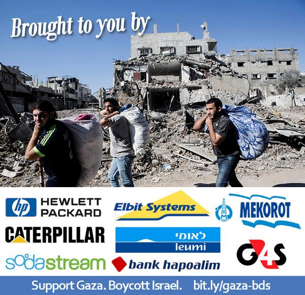 Ideas for action against companies that support Gaza massacre http://t.co/nwsxDhOQXw #BDS http://t.co/RJFPEnViTn