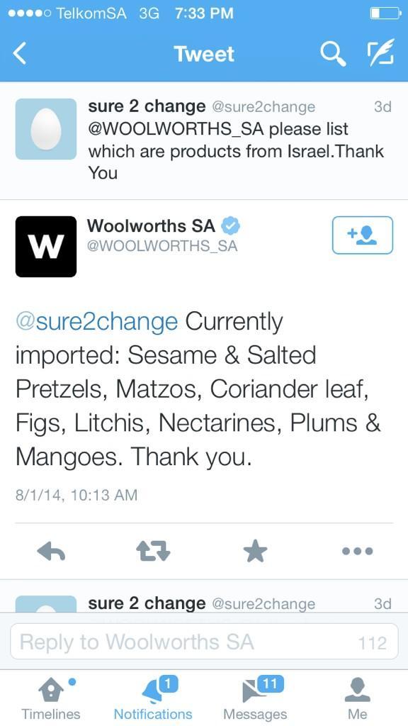 #boycottwoolworths #woolworthsis4murder #BoycottIsrael << Retweet &Use http://t.co/D8fICLCDwu