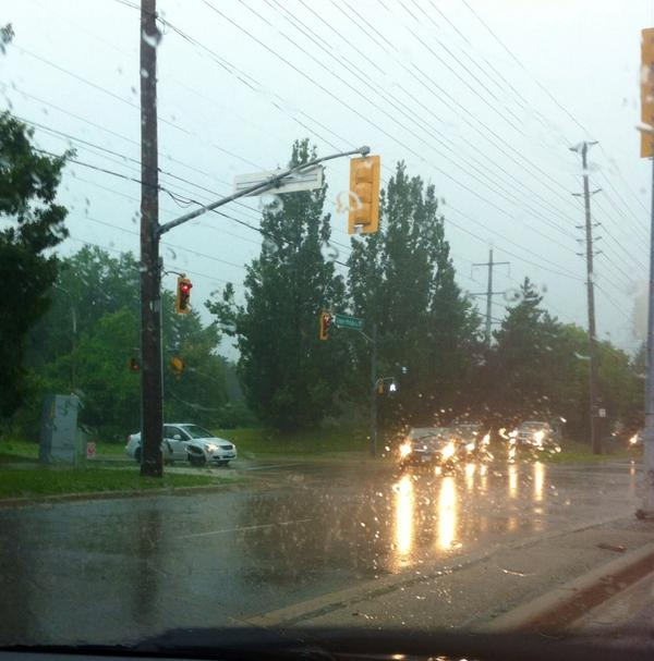 Why yes! In Burlington we DO drive on the sidewalk to avoid flooding - Upper Middle & Centennial http://t.co/3PSy7Lbhfp