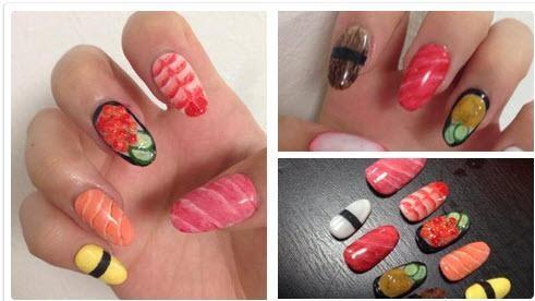 Sushi fingernails from Japan. Yummy. http://t.co/LiJMJxvRBL http://t.co/4BYw3fPiAe