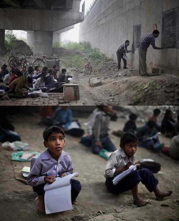 Think you have it hard? These are children living in poverty in India, who are eager to receive an education! http://t.co/XcqoVvlrHm