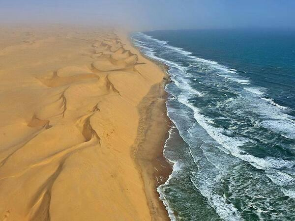 There is a country in Africa named Namibia, where a desert meets with a sea. http://t.co/VvhanHjkKj