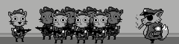 Cat army #gbjam #pixelart #pixels #art http://t.co/NTH2ImJoIR