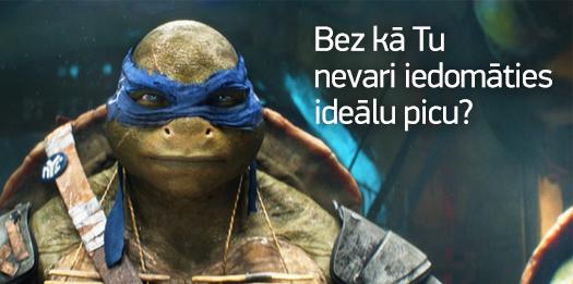 """Tev garšo pica tikpat ļoti kā bruņurupučiem nindzjām? Atbildi uz konkursa jautājumu un laimē picu no """"Picu darbnīca"""". http://t.co/RACMGh70A7"""