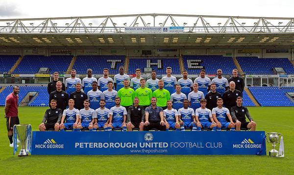 Peterborough United release hilarious pic of Ashley Cole sneaking into their team photo: http://t.co/AgS2IdN1P9 #PUFC http://t.co/V6cfXo3u6s