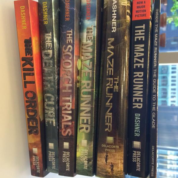 It's #mazerunner day today! 2 new editions on sale! #dashnerarmy #themazerunnermovie @mazerunnermovie @JamesDashner http://t.co/ooAJ0GrBfb