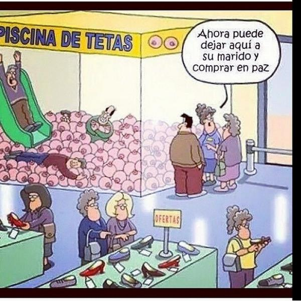 ClaudiaBeatriz (@Clanover): Por fin la solución al eterno problema para los maridos q odian ir de shopping. #ideamillonaria http://t.co/Zvx3bg2R7W