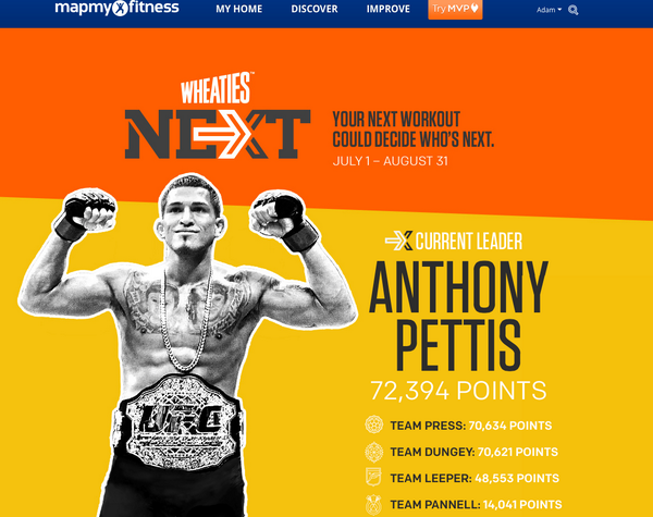 Great job @ufcgym members. Anthony-1st place.  Lets start increasing our workouts  @Showtimepettis http://t.co/CpH8qheVag