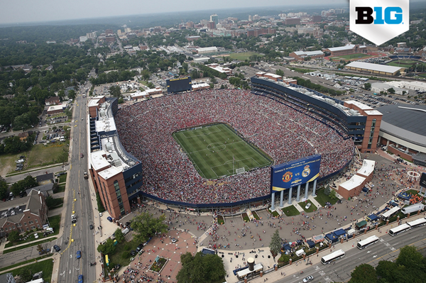 After Saturday's soccer match, Michigan Stadium now holds the U.S. attendance records for football, hockey & soccer. http://t.co/wUx8LrTNx4