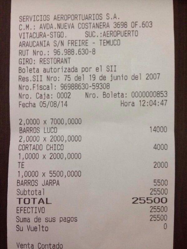 Si va a comer algo en el nuevo aeropuerto de La Araucanía, prepárese para ser asaltado http://t.co/KrarKrACat
