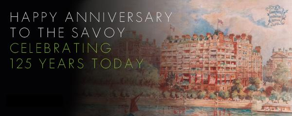CELEBRATING 125 YEARS TODAY! RT #SAVOY125 FOR A CHANCE TO WIN A NIGHT IN THE ROYAL SUITE T&C'S http://t.co/h0BGfEEoH0 http://t.co/7UA0R5a6uA