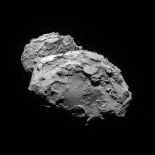 This is Rosetta's view right now. The closest we've ever been to a comet. http://t.co/xA4mIPpTlh