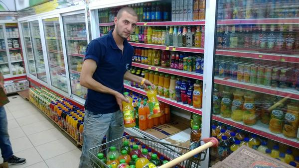 Israeli-shit products taken out of our stores woohooo! #BDS #Ramallah (photos by Journo Jamal Arouri) http://t.co/DiNc85uFjW