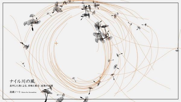 """LEAP Motionを使って世界の """"流れ"""" を操るインスタレーション。未来派図画工作「流線ノート」 http://t.co/uMCC4Pa2JG http://t.co/TeemfdCyHF"""