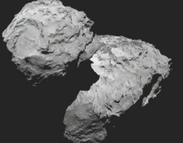 First image in orbit from #67P #Rosetta #RosettaAreWeThereYet http://t.co/vS0tLHPXyA