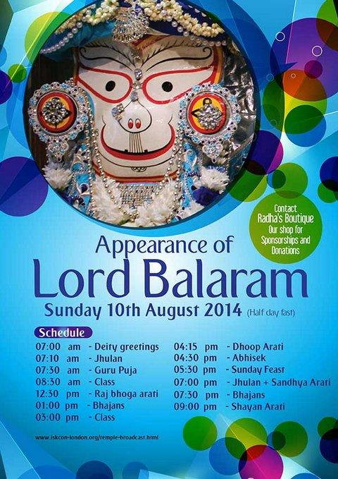 Join the celebrations for Balaram Jayanti on Sun, 10th Aug and pray to Lord Balaram for spiritual strength and bliss. http://t.co/PF1sWp4uLw