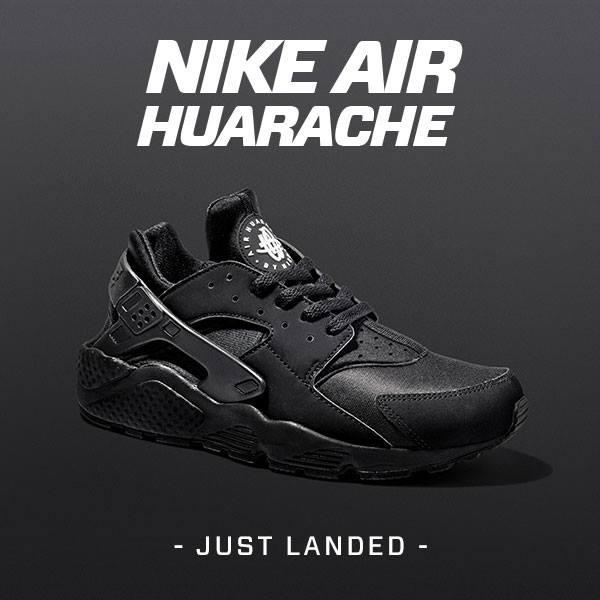 Nike Air Huarache Triple Black White