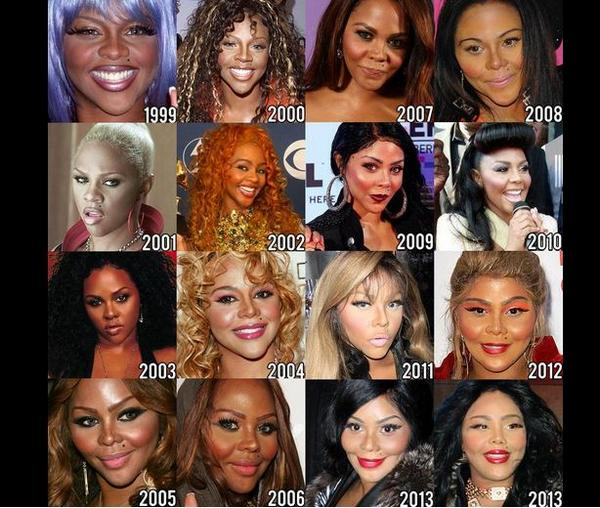 Bossip (@Bossip): Identity Theft? We don't even think Lil Kim knows who she is what she looks like today. http://t.co/89ujm41rYk