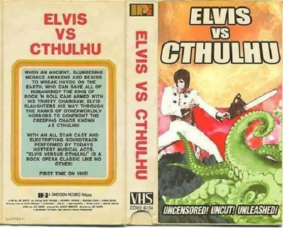 Well now we've seen everything! #Elvis vs #Cthulhu! #ElvisvsCthulhu! Have you seen this movie? http://t.co/TGt8NbQWPL