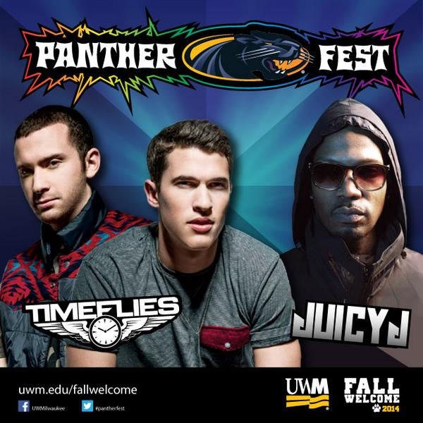 We're excited to announce that @Timeflies and @therealjuicyj will headline this year's #Pantherfest! http://t.co/KMSq4LRdLf