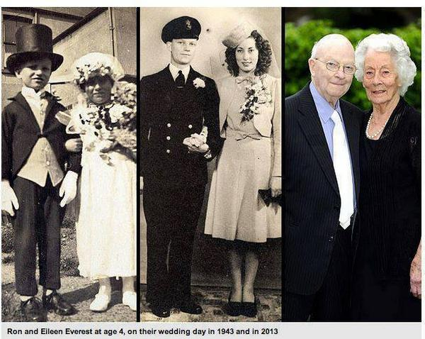 Couple Who Posed as Bride & Groom at Age 4 Still Going Strong at 91. http://t.co/Tg0eSN3OfB