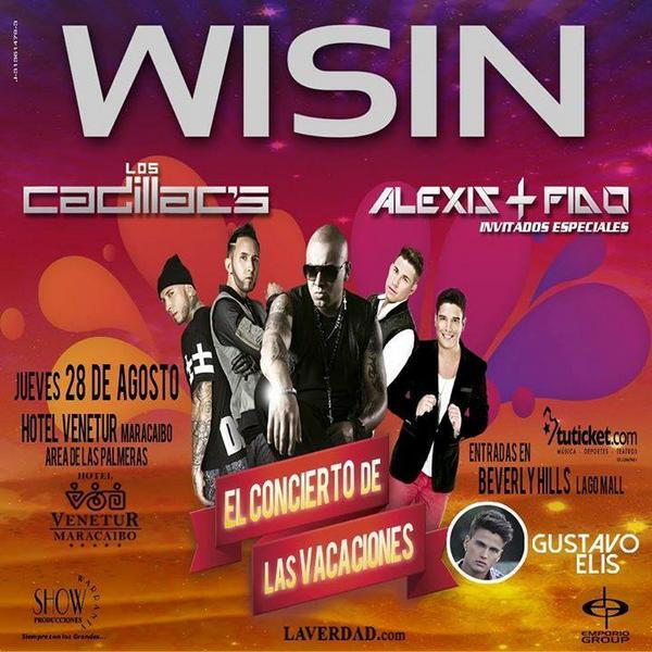 28Ago @ MARACAIBO: @GustavoElis invitado especial en Concierto De Las Vacaciones junto a @Juanlmorera @alexisyfido http://t.co/5ZeZP5GlcH