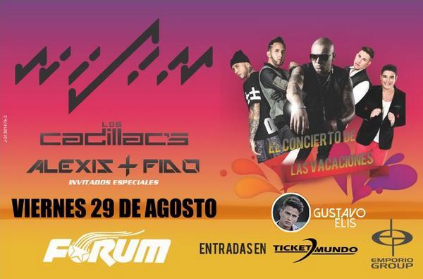 29Ago @ Valencia: @GustavoElis invitado especial en Concierto De Las Vacaciones junto a @Juanlmorera @alexisyfido http://t.co/VHOZYu9O8c