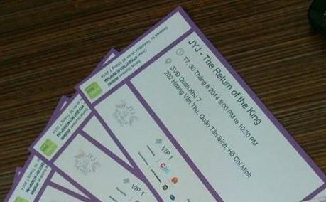 JYJベトナム公演のチケットを大量にドタキャンされて困っておられます。VIP1区20枚とVIP4区10枚あるそうです。興味ある方は連絡してあげてください^^ http://t.co/dmre0673ow