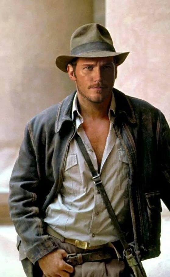 Been against rebooting  #HarrisonFord as #IndianaJones but this rocks! RT @rosstmiller:Chris Pratt as Indiana Jones. http://t.co/LzixRIW9In