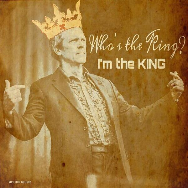 the King is only one... @hughlaurie http://t.co/6VZAIOvC3n