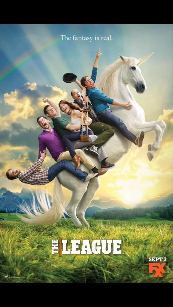 My dream of riding a unicorn with 5 dudes has become a reality... #TheLeagueSeason6 http://t.co/dwGGLtSccW
