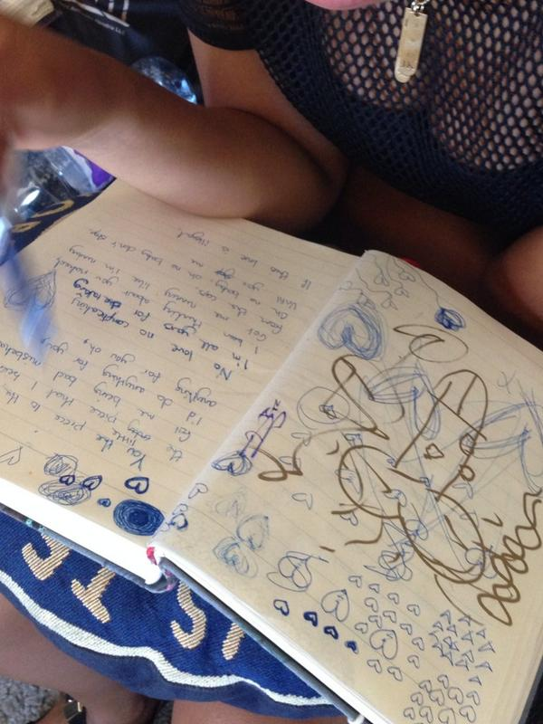 Leigh-Anne @LittleMix had one thing on her mind today and it wasn't writing lyrics http://t.co/fQEybcVd95