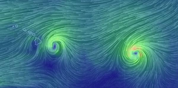 "Wow! ""@pourmecoffee: The real-time wind map around Hawaii is something to see right now http://t.co/fZnjz4GoxU http://t.co/9G1pZSUaIh"""