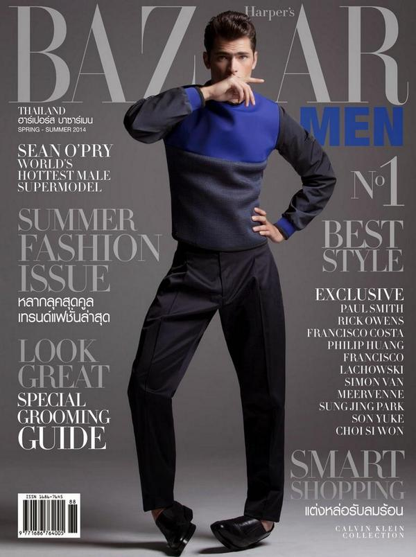 .@Seanopry55 brings it down for Harper's Bazaar Men Thailand. Why am I just seeing this now?!?! #Menswear #Models http://t.co/cnfncS2nUX