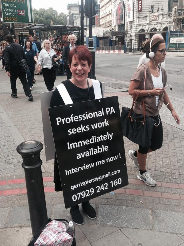 Anyone need a PA!? Lovely lady (we chatted) in Victoria not afraid of hard work! RT. http://t.co/soeeUW8Qy2